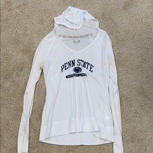 White Under Armor Heat gear Penn State hoodie